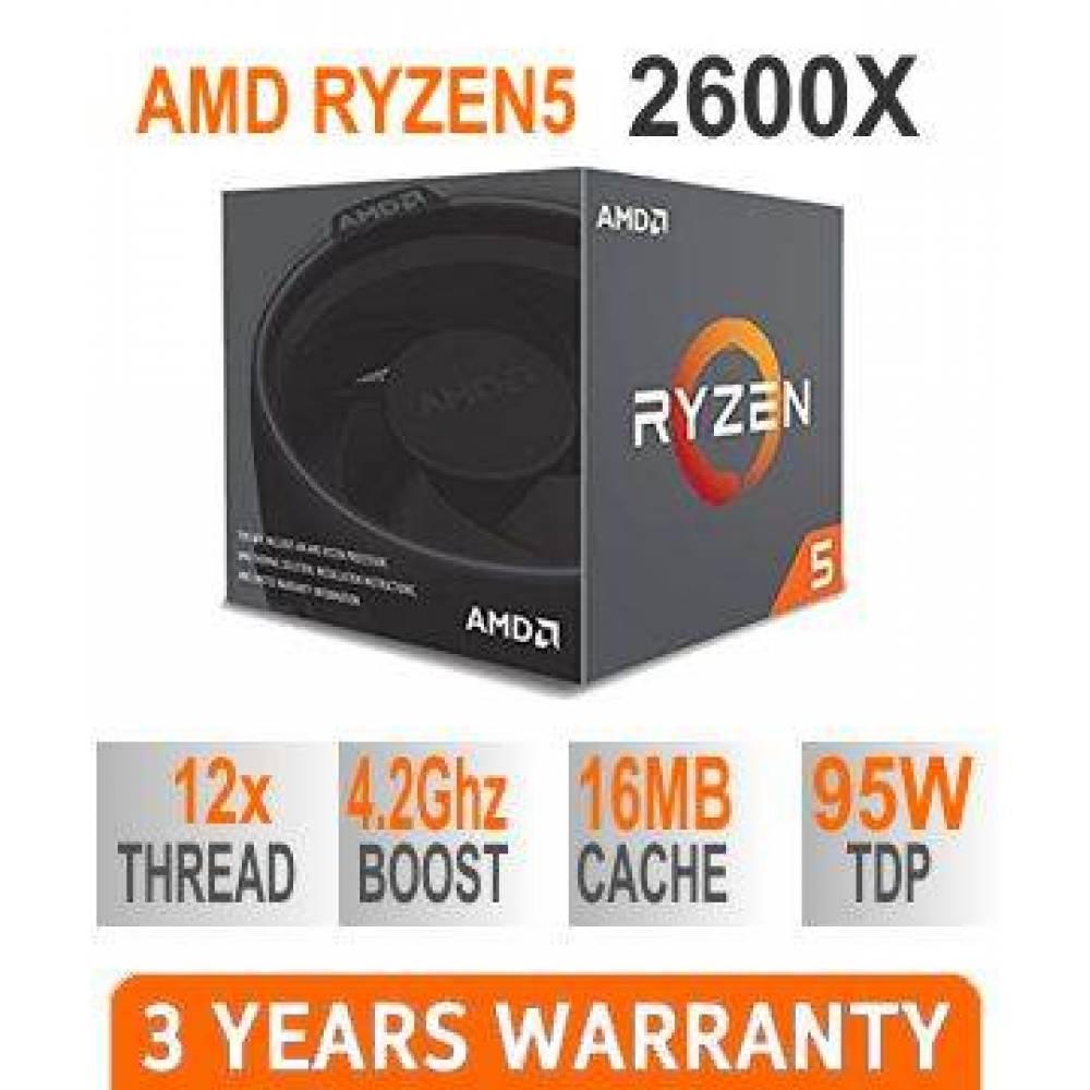 Mänguri arvuti | RYZEN 5 2600X Kuni 4.2GHz | 16GB DDR4 RAM | GTX 1660 6GB | 480GB SSD | Must