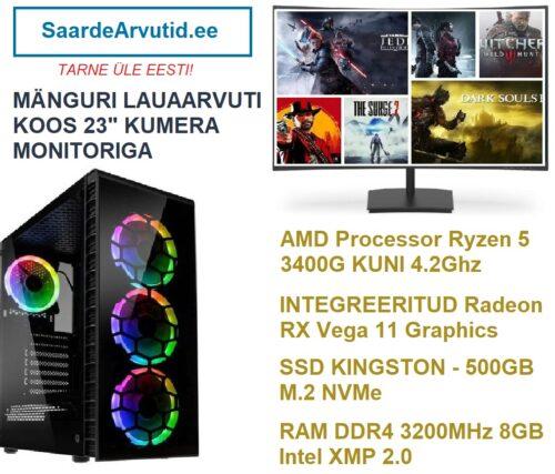 Manguri-Komplekt-Kumera-236-Monitoriga-Ryzen-5-3400G-kuni-4.2Ghz-RX-Vega-11-Graphics-RAM-DDR4-3200MHz-8GB-Intel-XMP-2.0-SSD-500GB-M.2-NVMe-1-500x427