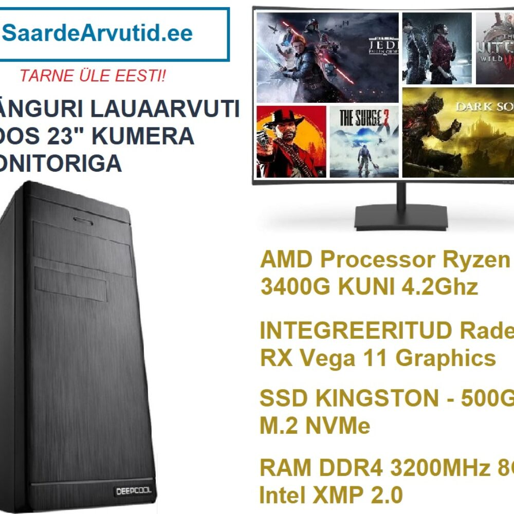 Manguri-Komplekt-Kumera-236-Monitoriga-Ryzen-5-3400G-kuni-4.2Ghz-RX-Vega-11-Graphics-RAM-DDR4-3200MHz-8GB-Intel-XMP-2.0-SSD-500GB-M.2-NVMe-1000x1000