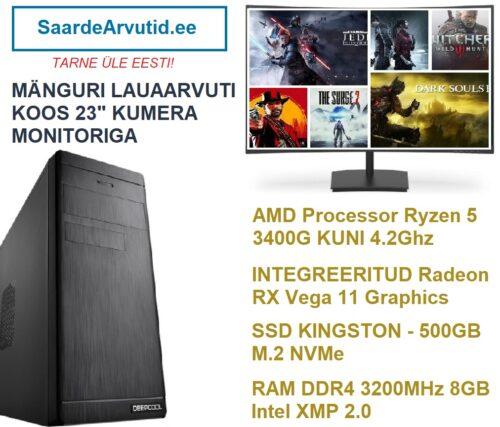 Manguri-Komplekt-Kumera-236-Monitoriga-Ryzen-5-3400G-kuni-4.2Ghz-RX-Vega-11-Graphics-RAM-DDR4-3200MHz-8GB-Intel-XMP-2.0-SSD-500GB-M.2-NVMe-500x427