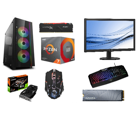 Mänguri Arvuti Komplekt AMD Ryzen™ 7 3700X, 500GB SSD, 8GB RAM, Gigabyte GeForce® RTX 2060,